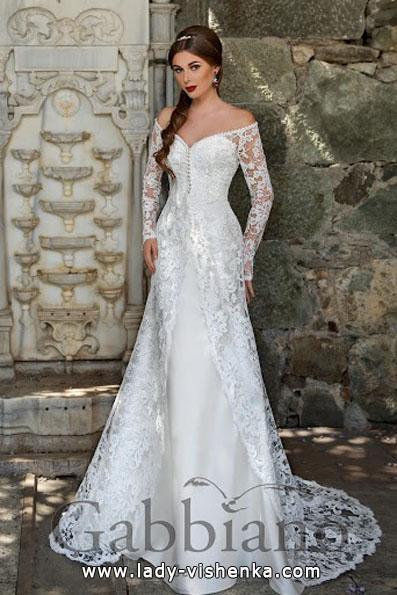 Свадебные платья с кружевными рукавами - Gabbiano