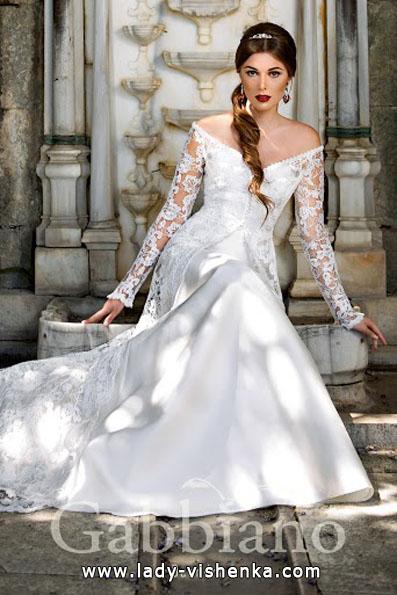 Свадебные платья с кружевными рукавами фото - Gabbiano