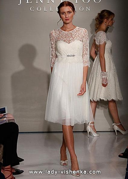 Свадебные платья с кружевными рукавами - Jenny Yoo