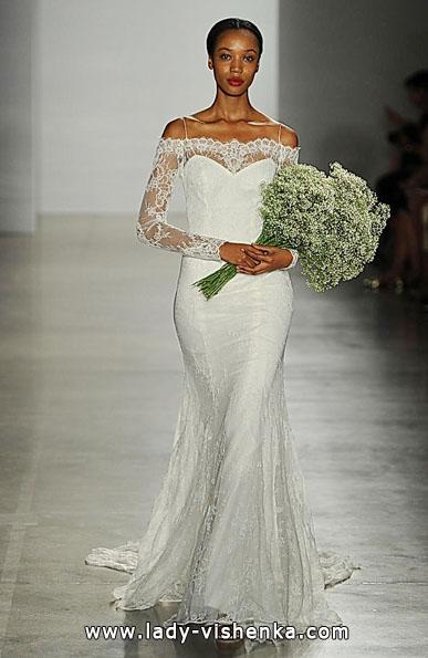 Свадебные платья с кружевными рукавами - Christos