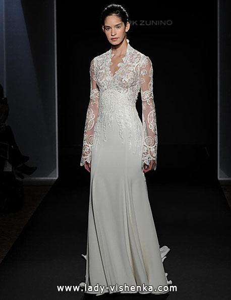 Свадебные платья с кружевными рукавами - Mark Zunino