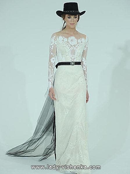 Свадебные платья с кружевными рукавами - Claire Pettibone