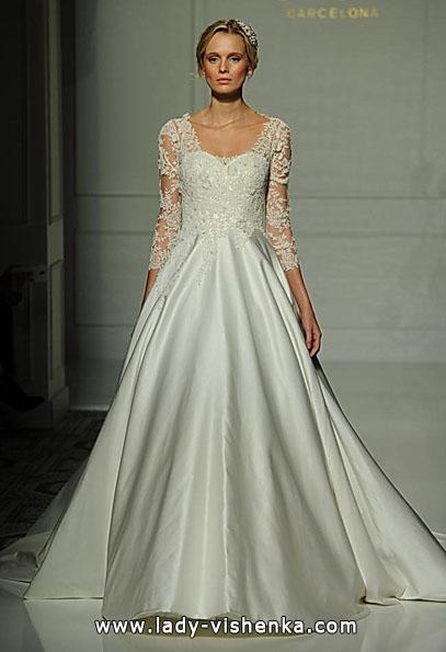 Свадебные платья с кружевными рукавами фото - Pronovias