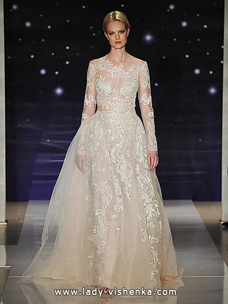 Свадебные платья с кружевными рукавами фото - Reem Acra