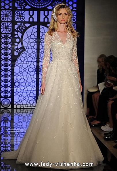 Свадебные платья с кружевными рукавами - Reem Acra