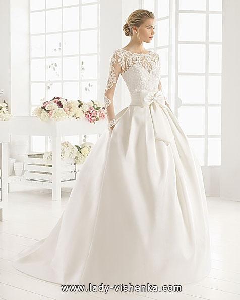 Свадебные платья с кружевными рукавами фото - Aire Barcelona