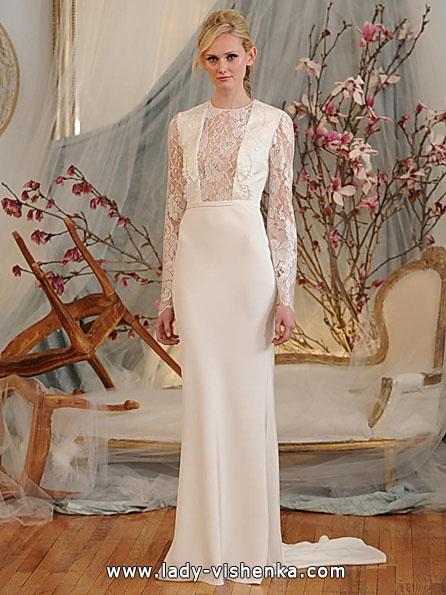 Свадебные платья с кружевными рукавами - Elizabeth Fillmore