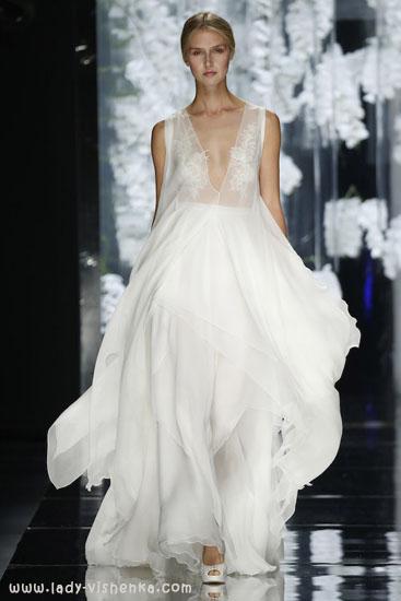 Кружевное свадебное платье с рукавами 2016 YolanCris