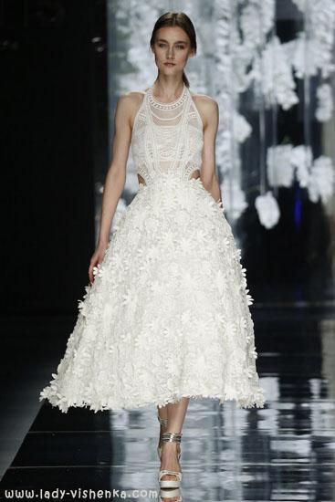 Короткие свадебные платья фото YolanCris