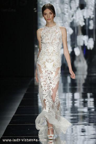 Простое открытое свадебное платье YolanCris