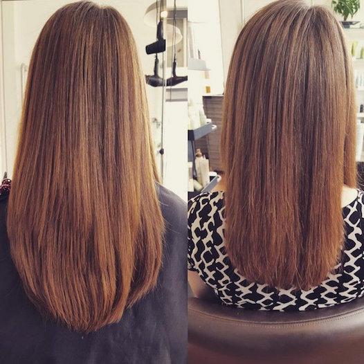 Стрижка на сухие волосы
