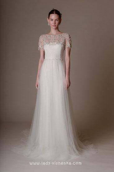 Простое свадебное платье Marchesa
