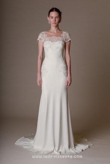 Скромные свадебные платья Marchesa