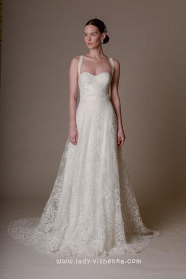 Длинные свадебные платья Marchesa
