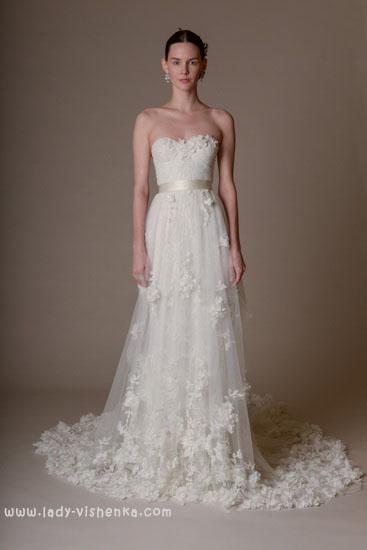 Красивые свадебные платья Marchesa