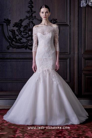Длинные свадебные платья Моник Люлье