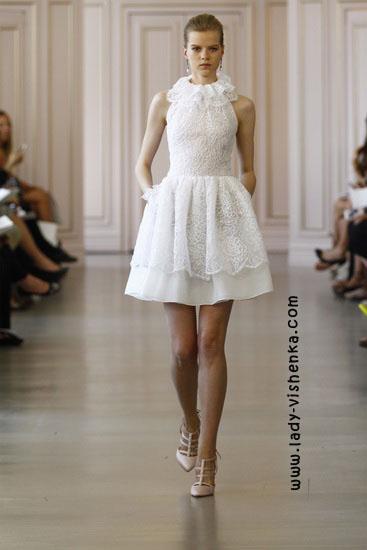 Маленькое свадебное платье Oscar De La Renta