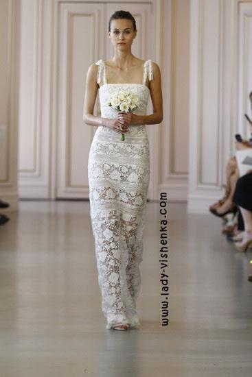 Обтягивающее свадебное платье Oscar De La Renta