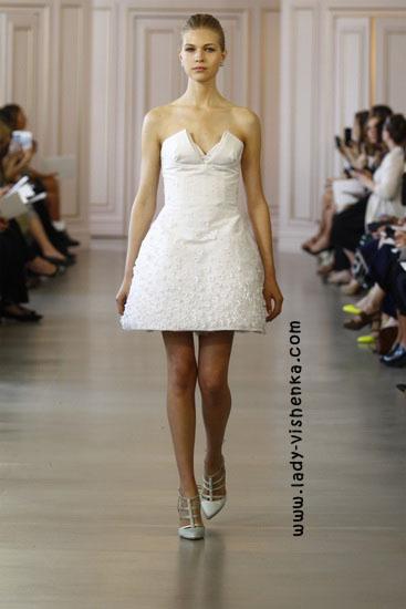 Короткие свадебные платья Oscar De La Renta