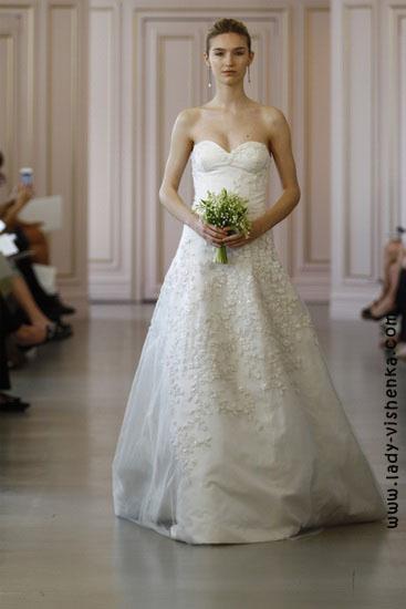 Свадебные платья - мода Oscar De La Renta