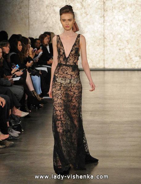 Черное прозорачное свадебное платье - Inbal Dror