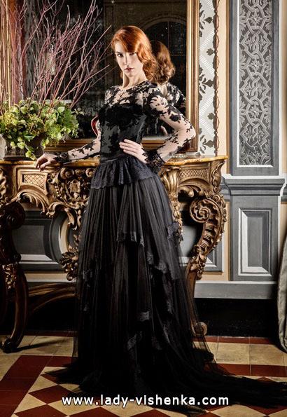 Черное свадебное платье фото - Jordi Dalmau