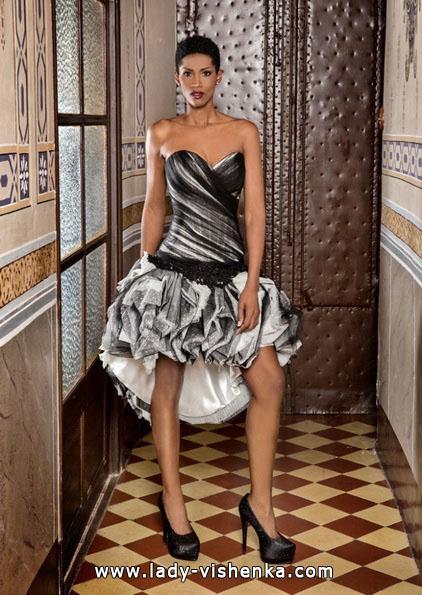 Короткое черно-белое свадебное платье 2016 - Jordi Dalmau