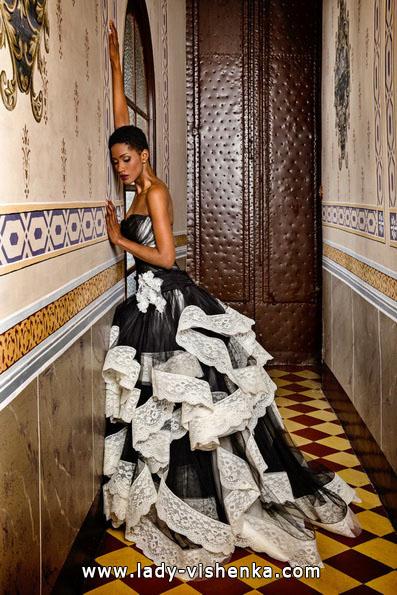 Черно-белое свадебное платье фото - Jordi Dalmau
