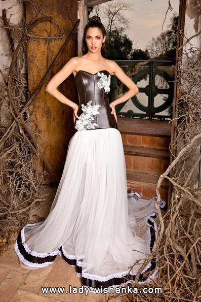 Черно-белое свадебное платье 2016 - Jordi Dalmau