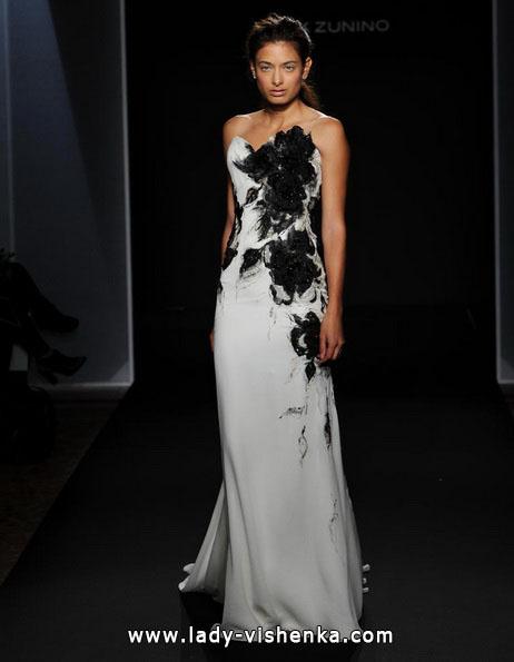 Черно-белое свадебное платье 2016 - Mark Zunino