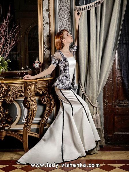 Свадебное платье с черными элементами - Jordi Dalmau