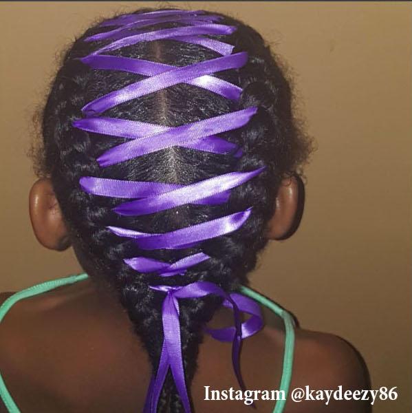 Лента в волосах