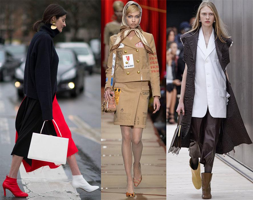 Мода 2017 - разная обувь