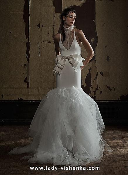 Свадебное платье рыбка без шлейфа - Vera Wang