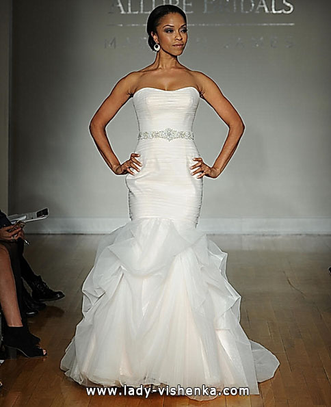 Свадебное платье рыбка без шлейфа - Allure