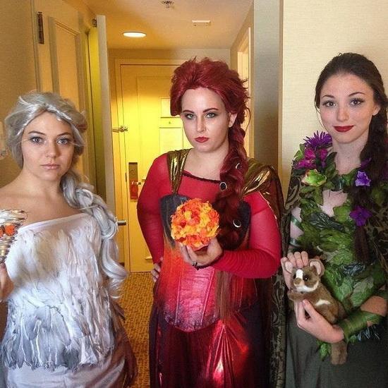 Простой костюм Эльзы на Хэллоуин
