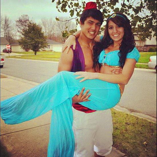 Жасмин и Алладин на Хэллоуин