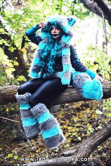 Секси костюм чеширской кошки на Хэллоуин