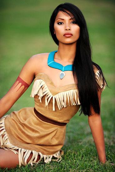 Красивое платье Покахонтас на Хэллоуин