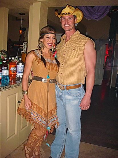 Простое платье Покахонтас на Хэллоуин
