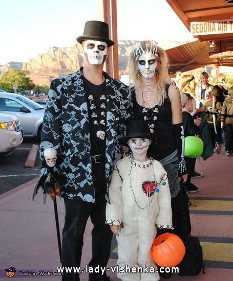 Костюм скелета на Хэллоуин для всей семьи