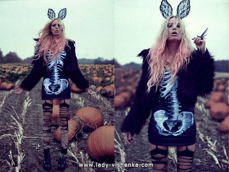 Платья на Хэллоуин - Скелет