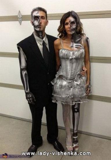 Скелеты - костюмы для пары на Хэллоуин