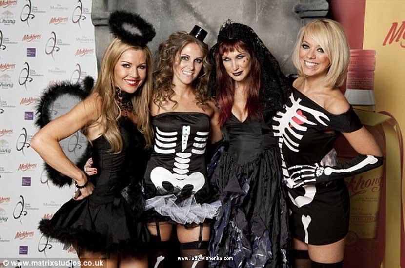 Короткое платье - Скелет на Хэллоуин