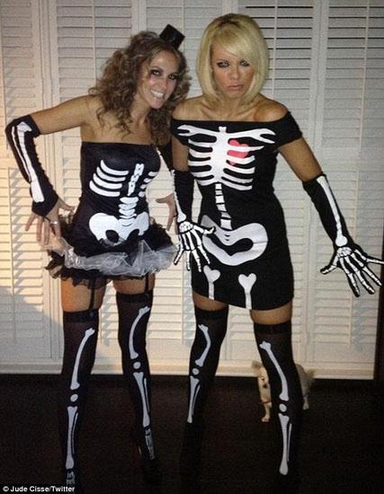 Скелет на Хэллоуин - платье