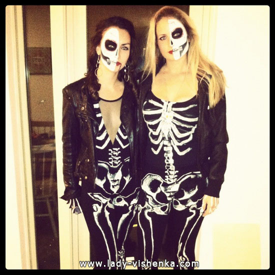 Одежда на Хэллоуин - Костюм Скелета для девушек