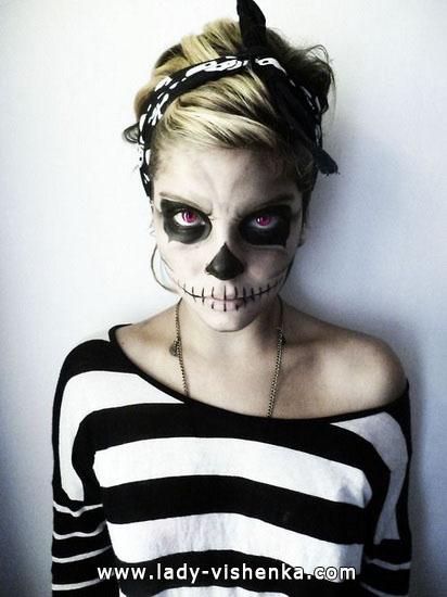 Скелет на Хэллоуин своими руками