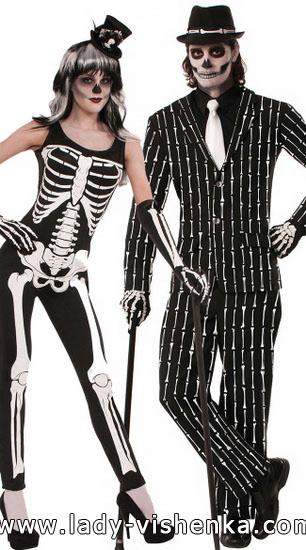 Костюм скелета для парня и девушки