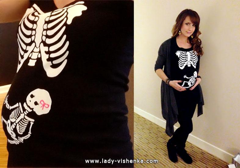 Наряд Скелета на Хэллоуин для беременной