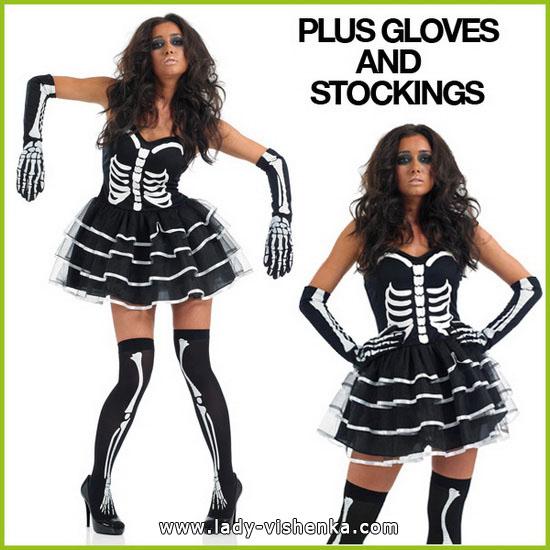 Костюмы на Хэллоуин - фото Скелета
